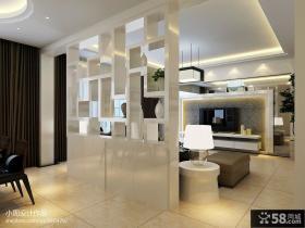 简约风格客厅壁纸电视背景墙装修效果图