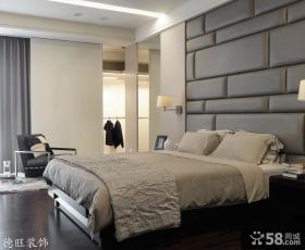 卧室床头硬包背景墙装修效果图片