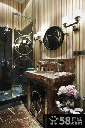 古典美式别墅设计室内玄关图片