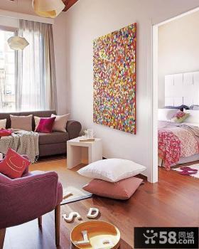 80后喜欢的欧式现代风格小户型客厅玄关装修效果图大全2012图片