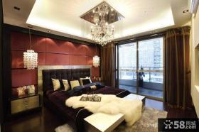 中式主卧室吊顶装修效果图 中式卧室阳台装修图片