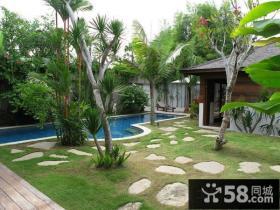 别墅庭院花园设计实景图片