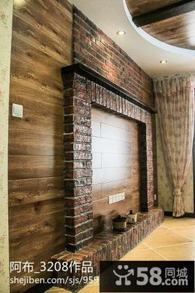 美式乡村风格背景墙装修效果图