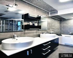 现代风格卫生间浴室柜装修效果图