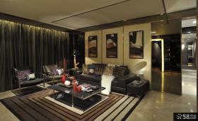 豪华别墅客厅沙发背景墙效果图