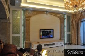 欧式家装瓷砖电视背景墙效果图大全