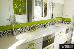 现代风格卫生间浴室柜效果图片