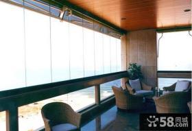 海景房无框阳台窗图片