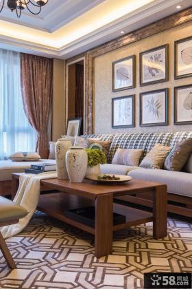 美式风格客厅家具茶几图片欣赏