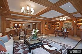 欧式木质客厅吊顶装修