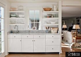 厨房圆方橱柜设计效果图欣赏