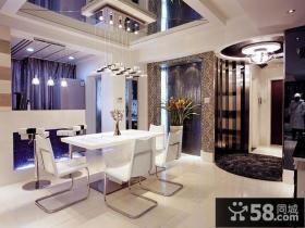 现代风格两室两厅餐厅吊顶装修效果图