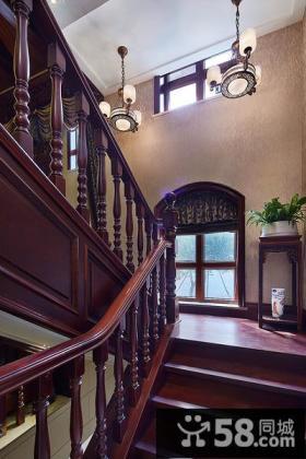 红木楼梯设计大全