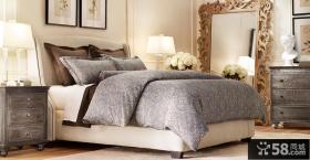 欧式风格卧室装修效果图大全2012图片 简约床头大镜子装修效果图