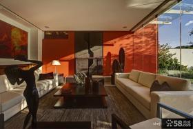 现代简约风格二层别墅客厅装修效果图大全