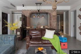 美式乡村风格三居室设计室内效果图