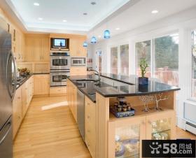 开放式厨房实木家具图片