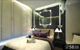 欧式简约主卧室背景墙灯光设计