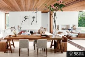 美式风格全木吊顶装修效果图大全2013图片