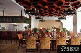 13万打造清新粉色简约风格餐厅吊顶装修效果图