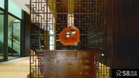 中式风格玄关屏风隔断效果图欣赏