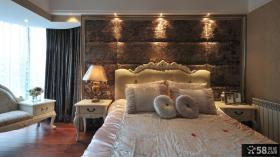 欧式古典卧室软包背景墙图片欣赏