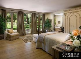奢华的美式田园风格卧室装修效果图
