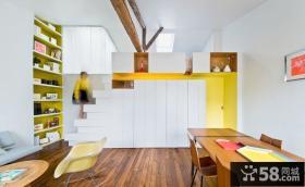 极简设计小复式室内装饰效果图