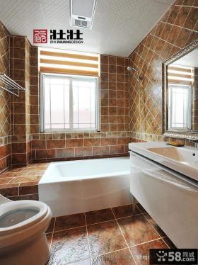 别墅卫生间大理石瓷砖墙面效果图