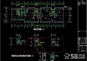 房屋木楼梯平面图