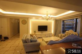 现代两室两厅家居装修客厅效果图大全