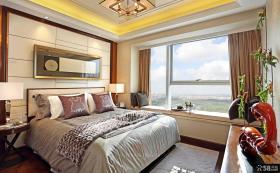小户型公寓卧室飘窗设计效果图