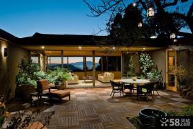 露天阳台花园设计效果图欣赏