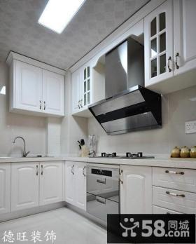 欧式风格小户型厨房实木橱柜效果图