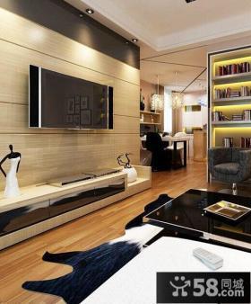 创意风格客厅电视背景墙图片
