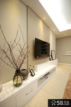 小电视背景墙效果图