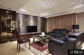 现代中式风格两房家庭装修图片欣赏