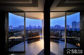 现代半弧形景观大阳台设计