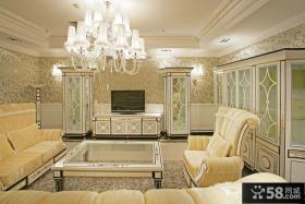 欧式豪华客厅装修效果图欣赏