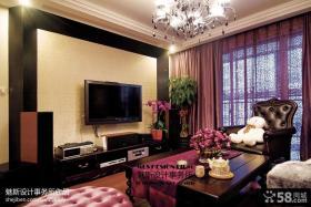 新古典客厅电视背景墙图片