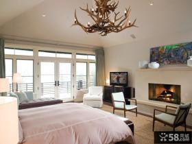 美式现代主卧室装修效果图大全2012图片 卧室吊顶装修效果图