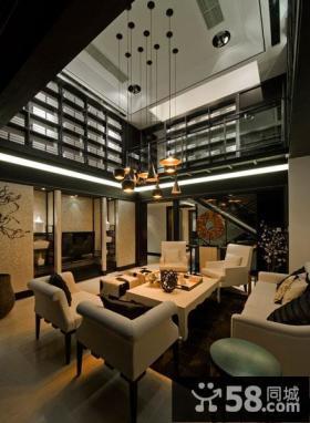 时尚新中式高档别墅装潢设计