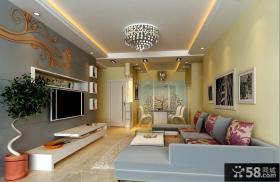 客厅电视背景墙装修效果图 2012客厅装修效果图