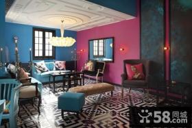 浪漫的享受地中海风格电视背景墙装修效果图大全2014图片