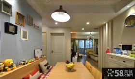 简约家居餐厅背景墙装饰画效果图