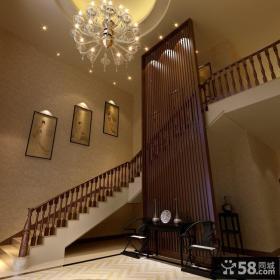 中式别墅楼梯间设计