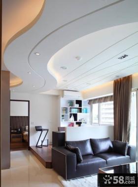 现代简约家装客厅吊顶效果图大全