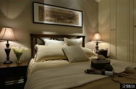 美式简约风格卧室挂画图片