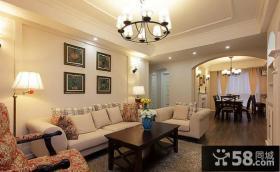 美式乡村风格室内客厅设计效果图片