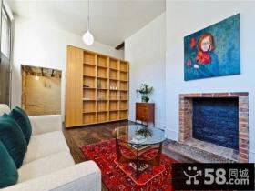 简约清新的美式风格客厅装修效果图大全2012图片